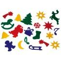 Kleine Filz-Stanzteile Weihnachtsmotive