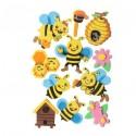 Moosgummi Bienen