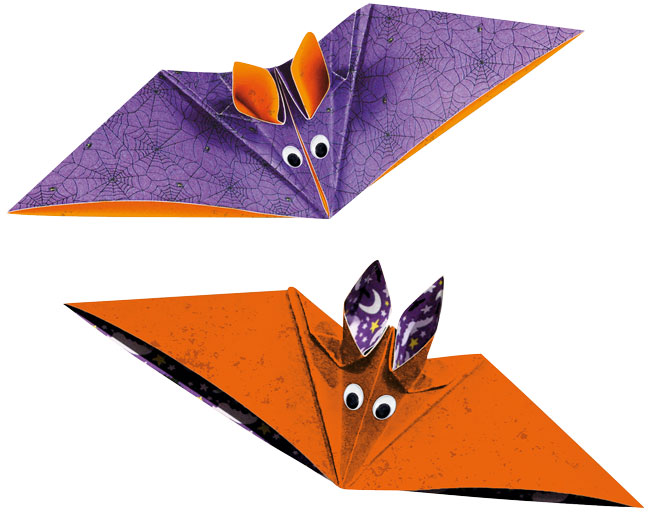 Faltblätter Halloween-Fledermaus