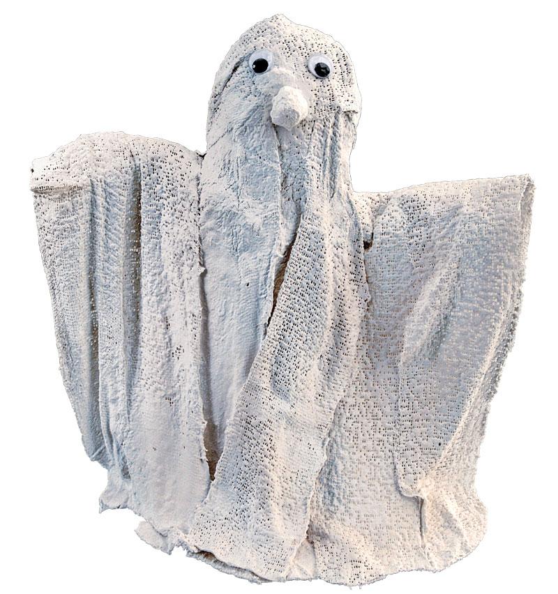 Halloween-Geist aus Gipsbinden