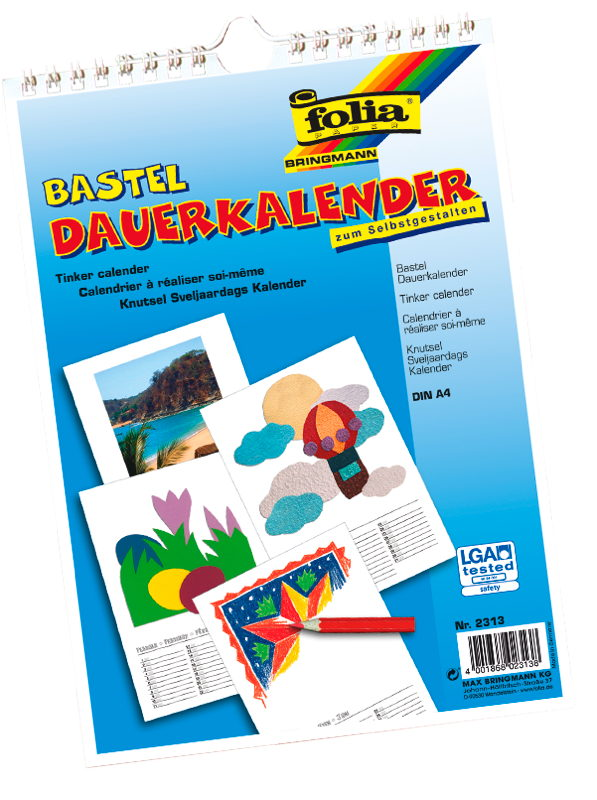 BRAUN Schulbedarf - Für Schule und Kindergarten - Dauerkalender basteln