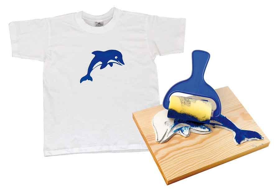 Bastelbedarf für Schule und Kindergarten - Stempeln und Drucken auf Textilien
