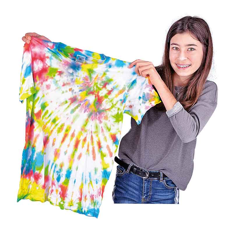 Bastelbedarf für Schule und Kindergarten - Textilien färben mit Marabu Textil Aquarelle