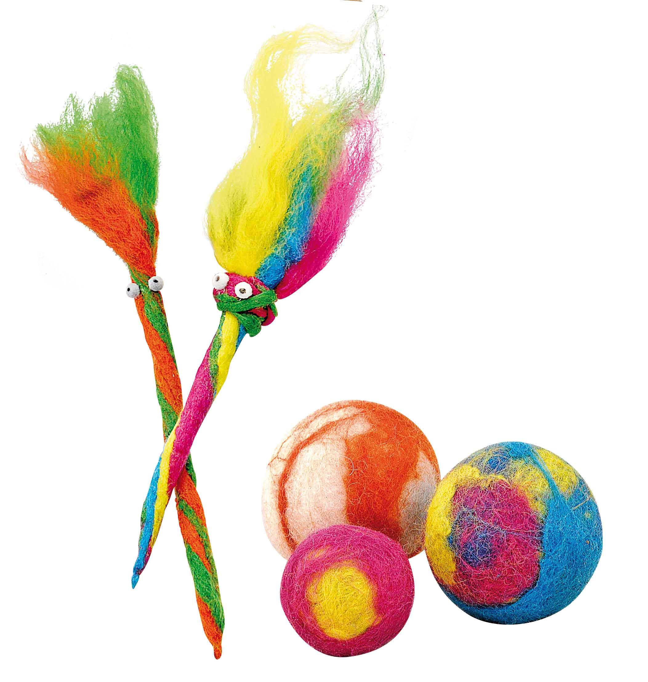 Bastelbedarf für Schule und Kindergarten, WTG, Nassfilzen - Waldorf Puppe filzen