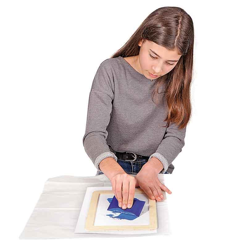 BRAUN Schulbedarf - Bastelbedarf Schule - Textilien bedrucken mit Siebdruck