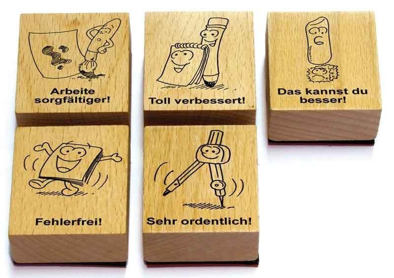 BRAUN Schulbedarf - Für Schule und Kindergarten - Grunschule Lob-Stempel-Set