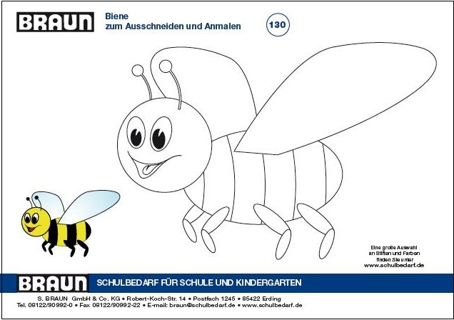BRAUN Schulbedarf - kostenlose Malvorlage Regenbogen und Biene