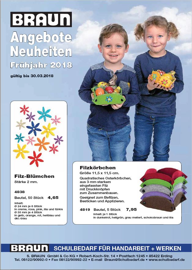 BRAUN Schulbedarf - Für Schule und Kindergarten - Bastelbedarf Ostern Angebot