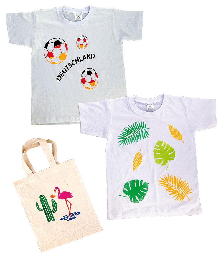 BRAUN Schulbedarf - Für Schule und Kindergarten - Baumwollartikel zum Gestalten mit Stoffmalfarben