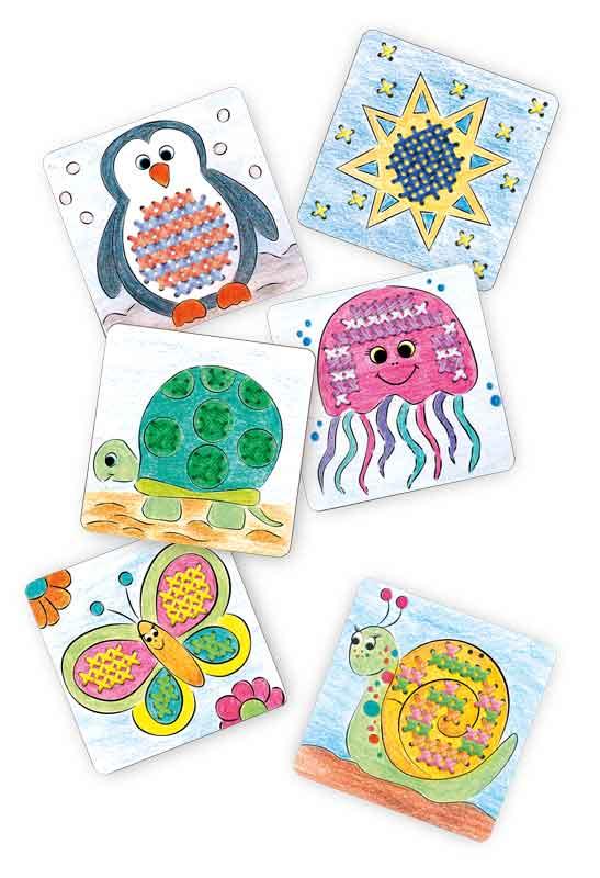BRAUN Schulbedarf - Für Schule und Kindergarten - Bastelbedarf Stickkarten