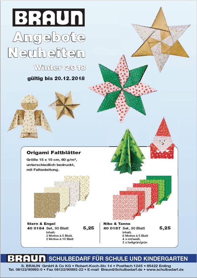 BRAUN Schulbedarf - Für Schule und Kindergarten - Weihnachtsangebot 2018
