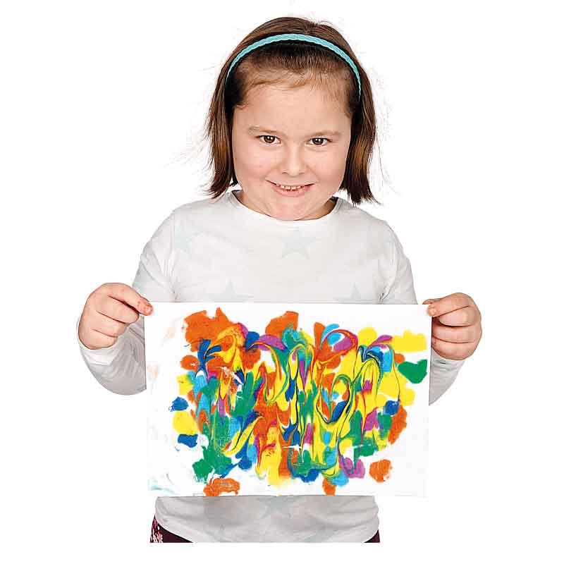 BRAUN Schulbedarf - Marmorieren mit farbiger Wasserfarbe und Rasierschaum