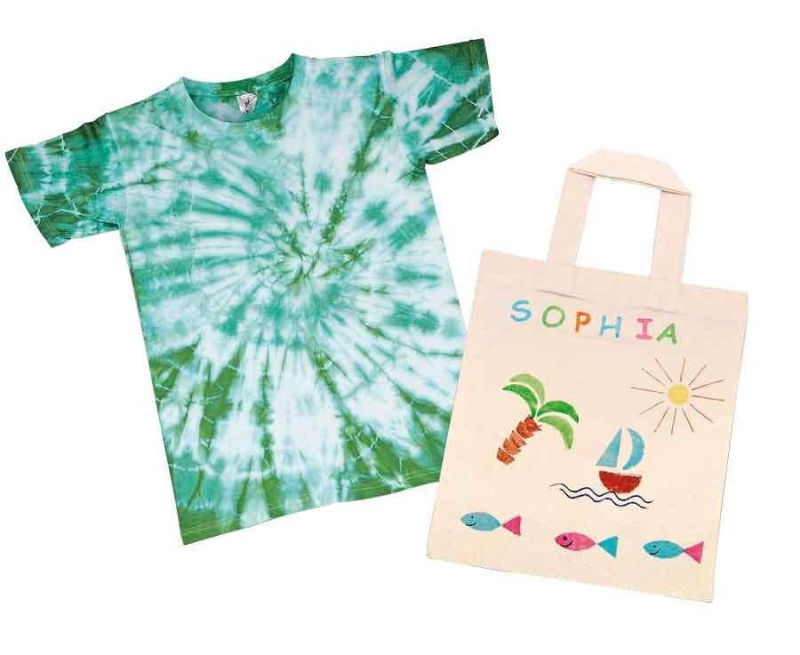 Textiles Gestalten Schule und Kindergarten - Baumwollartikel zum Gestalten mit Stoffmalfarben