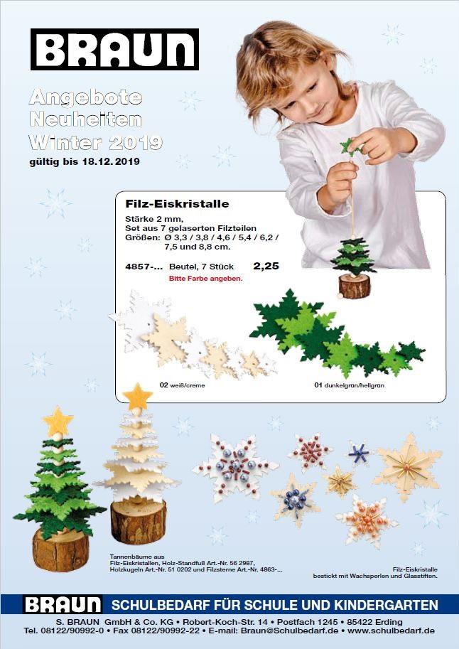 Bastelmaterialien -  Weihnachten, Schnemann, Tannenbaum, Sterne