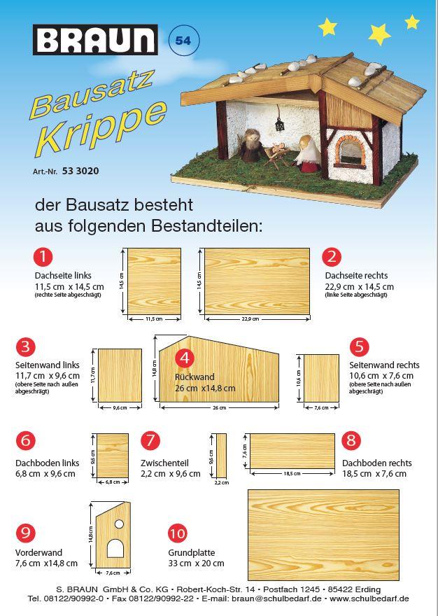BRAUN Schulbedarf - Für Schule und Kindergarten - Anleitung krippe aus Holz