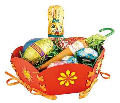 Braun Schulbedarf - Anleitung Körbchen aus Papier basteln zu Ostern