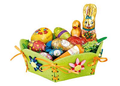 BRAUN Schulbedarf -  Anleitung Filzkörbchen mit Schablone zu Ostern