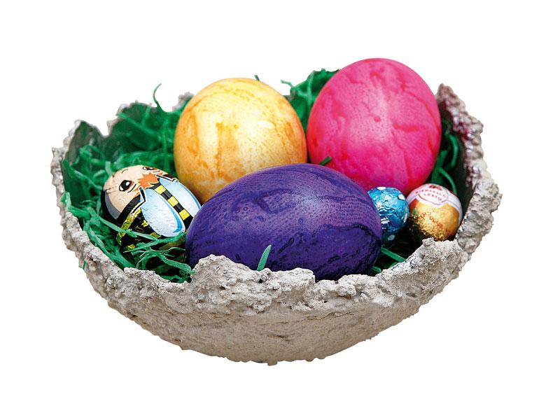 BRAUN Schulbedarf - Anleitung Beton Schale basteln zu Ostern