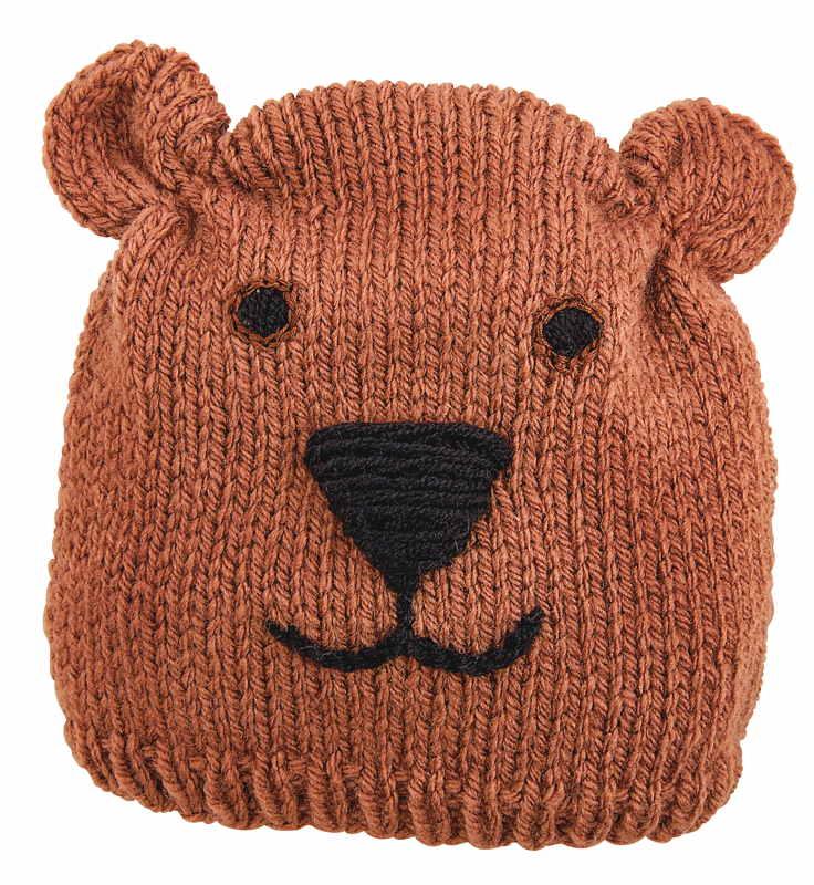 BRAUN Schulbedarf - Für Schule und Kindergarten - Mütze stricken Bär
