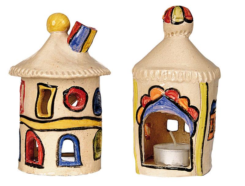 BRAUN Schulbedarf - Für Schule und Kindergarten - Windlicht Häuschen töpfern